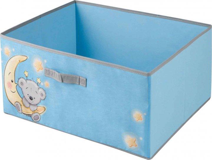Короб для зберігання одягу Handy Home Ведмедик 54х40х25 см Блакитний (UC-103) - зображення 1