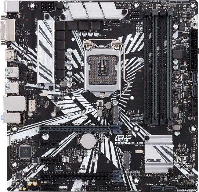 Материнская плата Asus Prime Z390M-Plus (s1151, Intel Z390, PCI-Ex16) - изображение 1