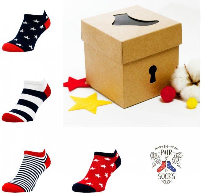 Набор носков The Pair of Socks 4P-121-RWB/BX 44-46 (4 пары) Разноцветный (4820234210657) - изображение 1