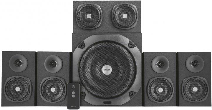 Акустична система Trust Vigor 5.1 Surround Speaker System for pc Black (TR22236) - зображення 1