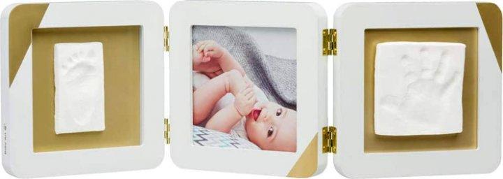 Набор для создания отпечатка ручки и ножки малыша Baby Art Тройная рамка Золотой Кант (3601098600) (3220660318988)