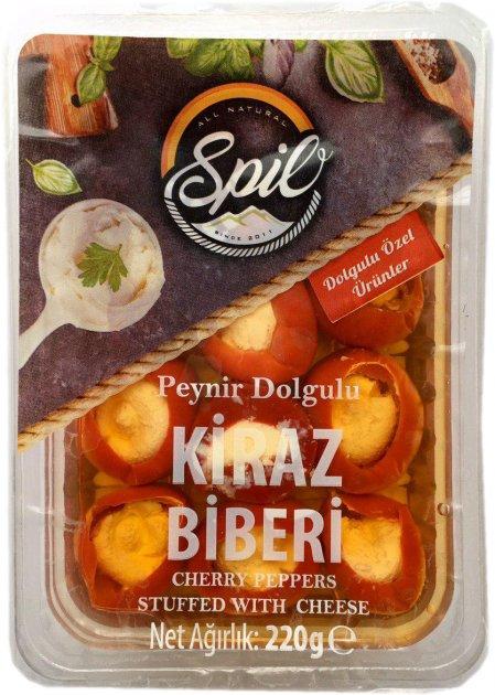 Маринованный перец черри Spilo Kıraz Peynirli Biber Dolması с брынзой 220 г (8680331340017) - изображение 1