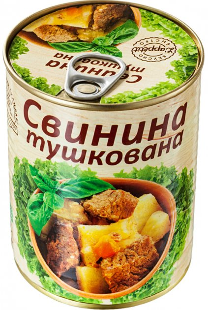 Свинина тушеная L'appetit 340 г (4820021840258) - изображение 1