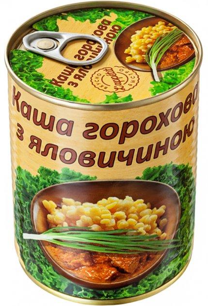 Каша горохова з яловичиною L'appetit 350 г (4820177070172) - зображення 1