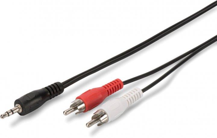 Аудио кабель Digitus Assmann Stereo Cable (jack 3.5мм-M/RCA-Mx2) 1.5 м Black (AK-510300-015-S) - изображение 1
