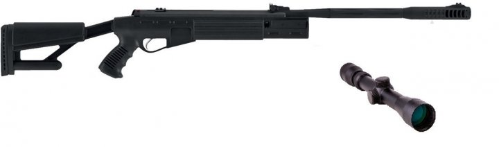 Пневматична гвинтівка Hatsan AirTact з посиленою газовою пружиною приціл 3-9×32 Sniper AR - зображення 1