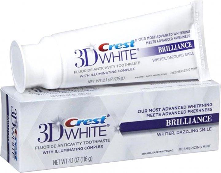 Отбеливающая зубная паста Crest 3D White Brilliance Vibrant Peppermint 116 г (37000889427/056100056683) - изображение 1