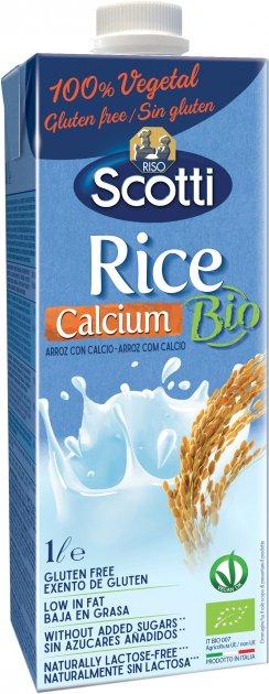 Рисовое молоко Riso Scotti органическое с кальцием 1 л (8001860255823) - изображение 1