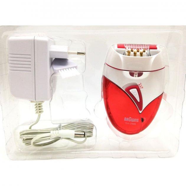 Эпилятор Browns km-2999 с охлаждением Белый/Красный (3557) - зображення 1