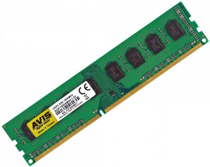 Оперативна пам'ять DDR3-1600 4Gb для AMD систем PC3-12800 AVIS AD3F1600AM3/4 4096MB (770008532) - зображення 1