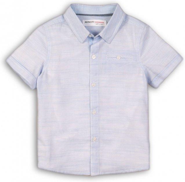 Рубашка Minoti Shore 1 7789 80-86 см Голубая (5059030009182) - изображение 1