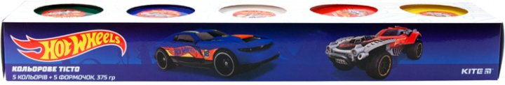 Цветное тесто для лепки Kite Hot Wheels 5 цветов (HW19-152) - изображение 1