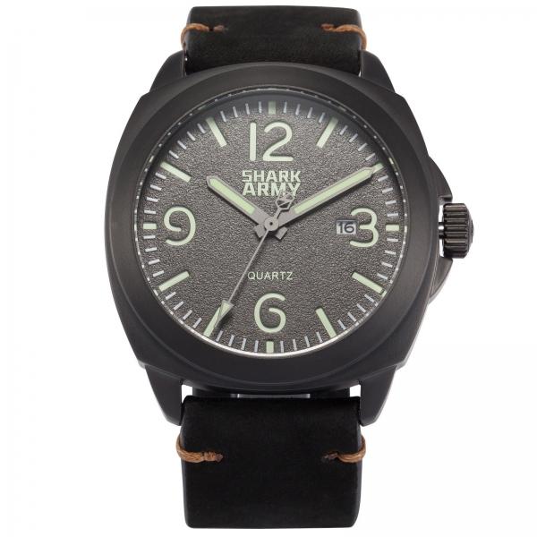 Мужские армейские часы Shark Army Lumin Seal черные - изображение 1
