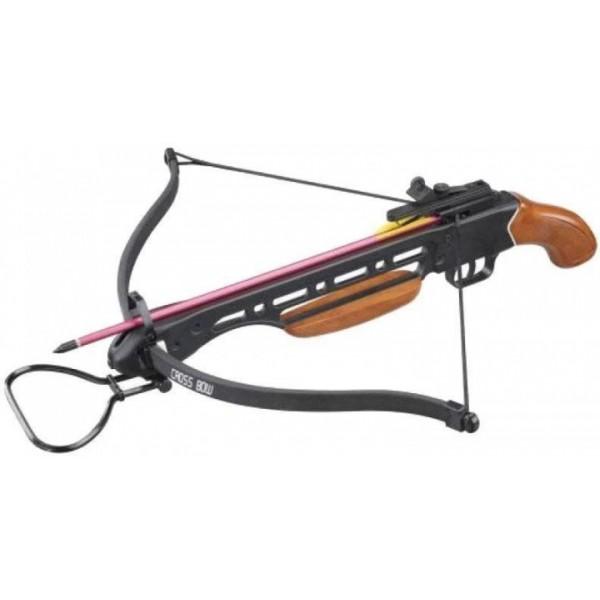 Арбалет Man Kung MK-150A1H, Рекурсивный, пистолетного типа, деревянная рукоять ц:коричневый - зображення 1