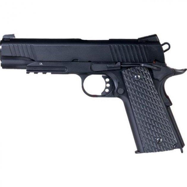 Пистолет пневматический SAS M1911 Pellet, 4,5 мм - изображение 1