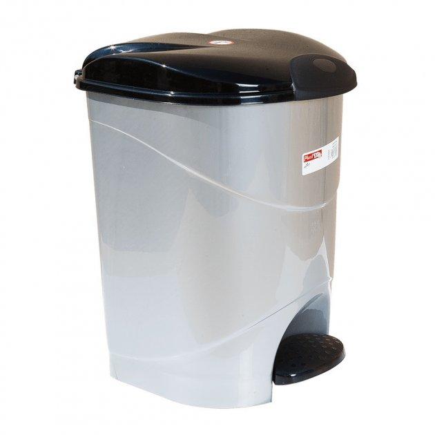 Відро для сміття з педаллю Irak Plastik Bella №3 30л сірий - зображення 1