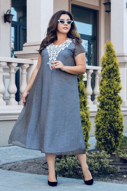 Платье ALDEM 1925 52 Серое (2000000423081_ELF) - изображение 1