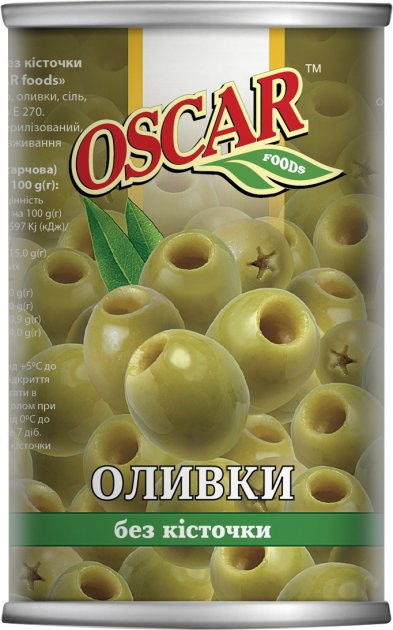 Оливки без косточки Oscar 280 г (8413552051321) - изображение 1