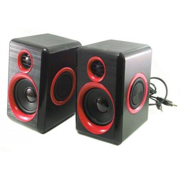Комп'ютерні колонки акустика 2.0 USB FnT FT-165 Червоні - зображення 1