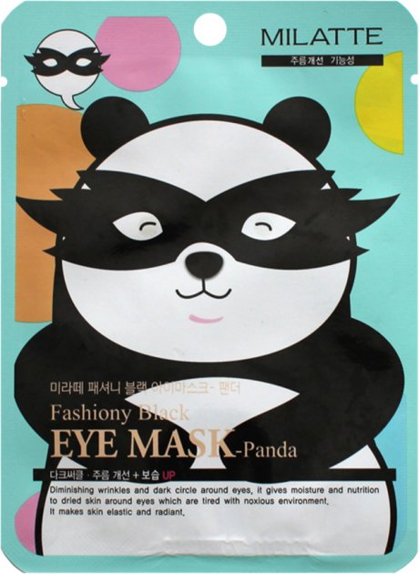 Маска навколо очей Milatte Fashiony Black Eye Mask Panda 10 г (8809535260246) - зображення 1