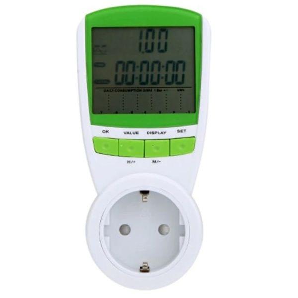 Розетковий лічильник електроенергії побутовий Kkmoon TS-838, энергометр ватметр до 16А (100266) - зображення 1