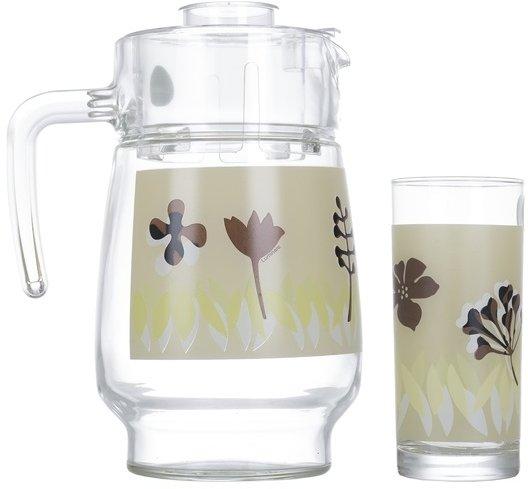 Набір для напоїв Luminarc Hevea Beige із 7 предметів (P4335) - зображення 1