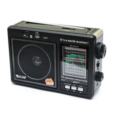 Радиоприемник GOLON RX-99UAR, 3W, FM радио, Входы microSD, USB, AUX, корпус паласмасс, Black, BOX Voltronic YT-Rd-SL-663RQ - изображение 1