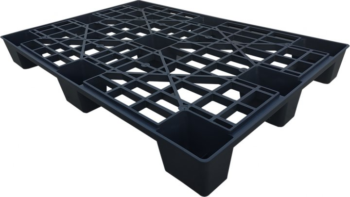 Поддон пластиковый Irak Plastik PL-100 120х80х13 cм Черный (6256kmd)