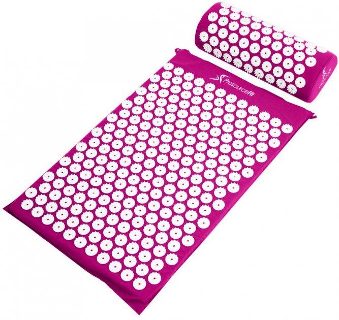 Килимок масажно-акупунктурний ProSource Acupressure Mat and Pillow Set з подушкою 64 х 40 см Фіолетовий (ps-1202-accuset-purple) - зображення 1