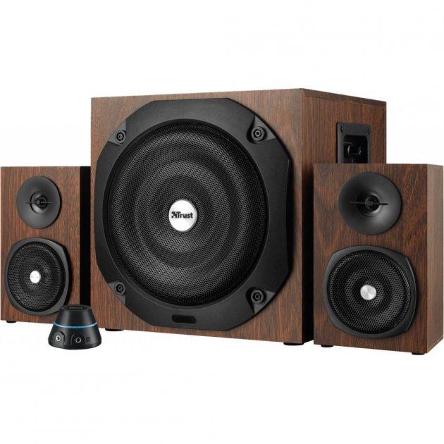 Акустична система Trust Vigor 2.1 Subwoofer Speaker Set - brown (20244) - зображення 1
