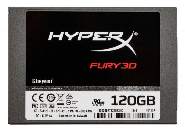"Kingston SSD HyperX Fury 3D 120GB 2.5"" SATAIII TLC (KC-S44120-6F) - зображення 1"