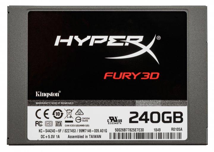 "Kingston SSD HyperX Fury 3D 240GB 2.5"" SATAIII TLC (KC-S44240-6F) - изображение 1"