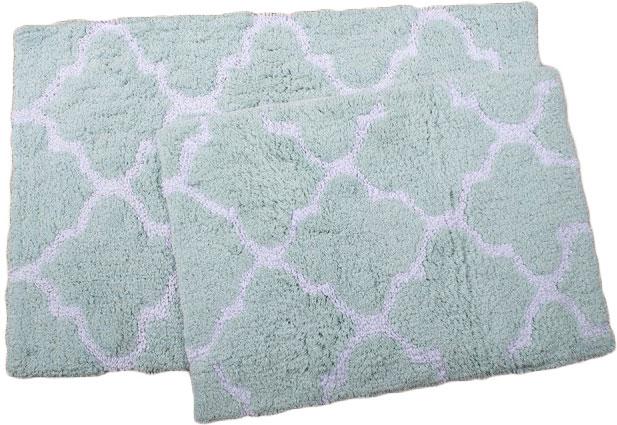 Набор ковриков Irya Bali 45х60 и 50х80 см Аква (2000022195027) - изображение 1