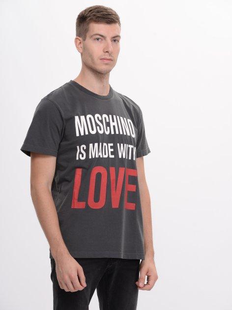Футболка Love Moschino 8181.5 2XL (52) Асфальтова - зображення 1