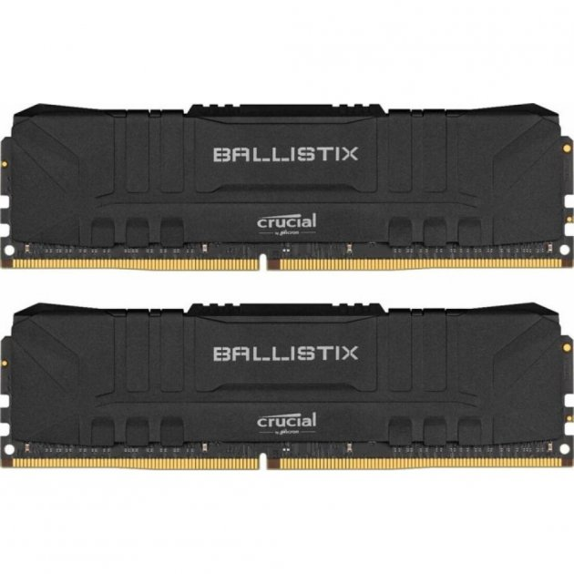 Модуль пам'яті для комп'ютера DDR4 16GB (2x8GB) 2666 MHz Ballistix Black MICRON (BL2K8G26C16U4B) - изображение 1