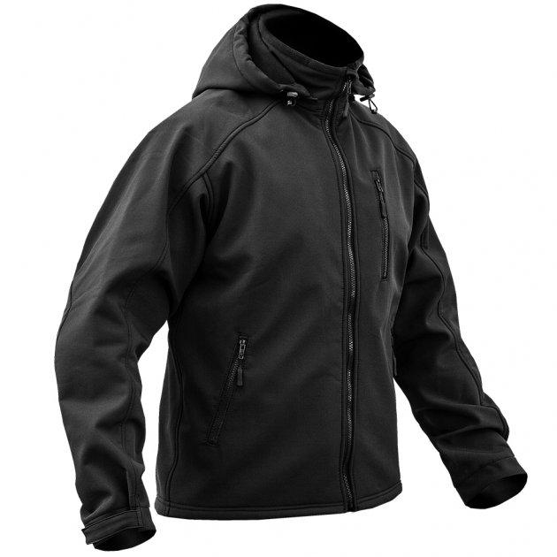 Куртка SoftShell DIVISION BLACK. Армолайн. S - изображение 1