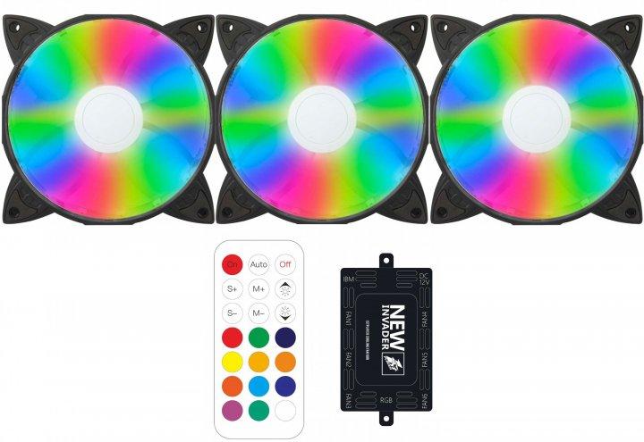 Набор 1STPLAYER RGB-вентиляторов Firebase G1 RGB Combo - изображение 1