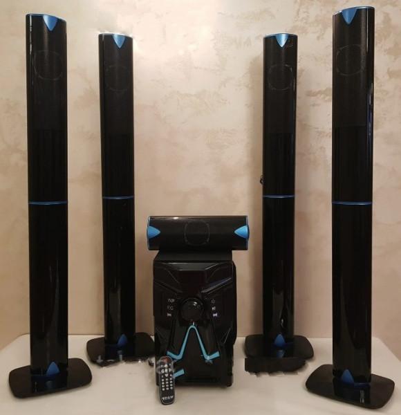 Комплект акустики 5в1 домашний кинотеатр ERAEAR EV 5 100W (USB/FM-радио/Bluetooth) - изображение 1
