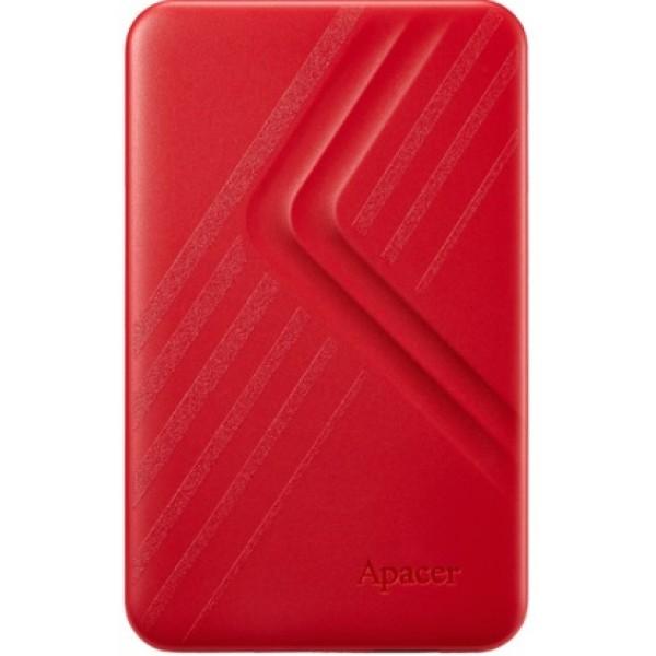 """HDD ext 2.5"""" USB 2.0 TB Apacer AC236 Red (AP2TBAC236R-1) - зображення 1"""