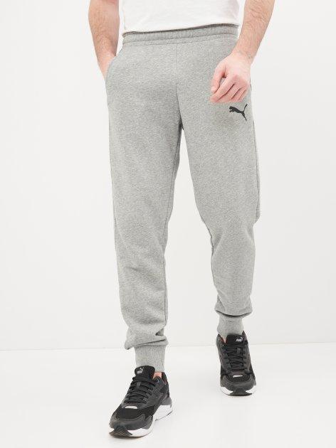 Спортивні штани Puma Ess Logo Pants 58671653 XXL Medium Gray Heather-Cat (4063697299832) - зображення 1