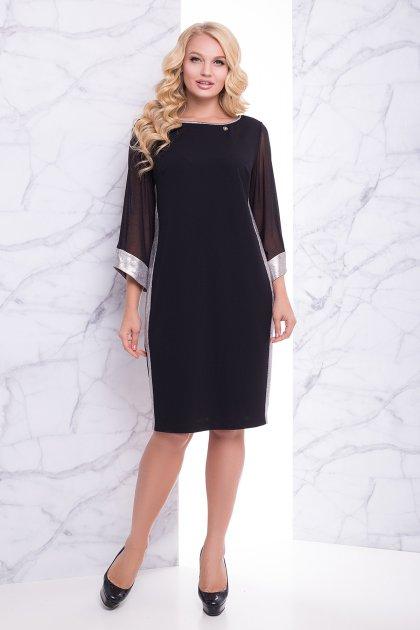 """Платье """"Вирджиния"""" (черный) 52 (XXL) - изображение 1"""