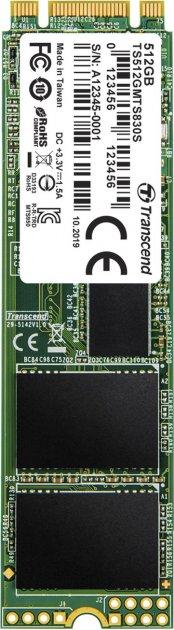 Transcend SSD MTS830S 512GB M.2 SATA SATA III 3D-NAND TLC (TS512GMTS830S) - изображение 1