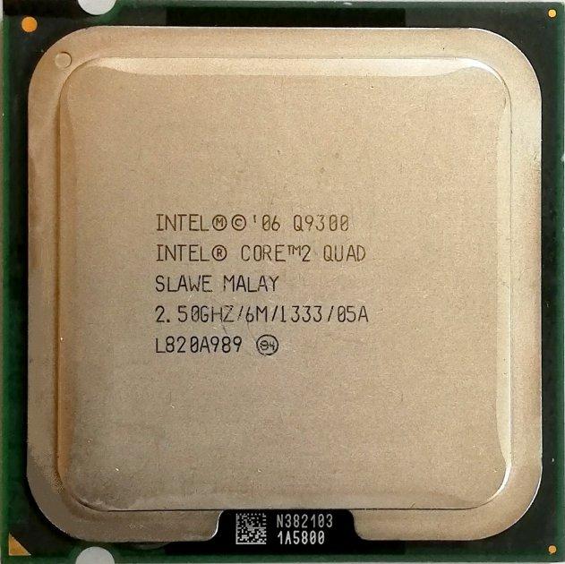 Процесор Intel Core 2 Quad Q9300 M1 SLAWE 2.5 GHz 6MB Cache 1333 MHz FSB Socket 775 Б/У - зображення 1