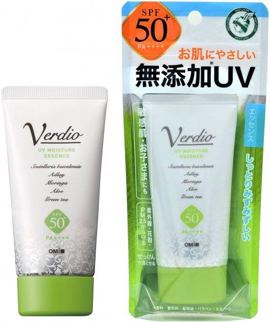 Санскрин-Эссенция Omi Verdio Для чувствительной кожи SPF50+ PA+++ 50 г (4987036535026/4987036535095) - изображение 1