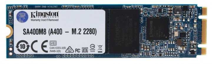 Kingston SSD SSDNow A400 120GB M.2 2280 SATAIII TLC (SA400M8/120G) - зображення 1