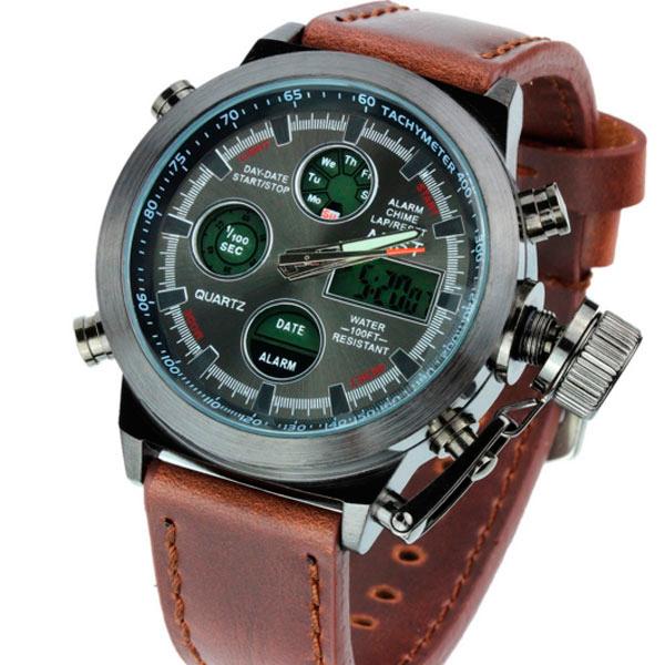 Армейские наручные часы AMST Brown - изображение 1