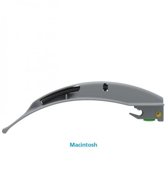 Клинки Macintosh для ларингоскопов Flexicare BriteBlade Pro™ цельнометаллические фиброоптические одноразовые размер 4 - изображение 1