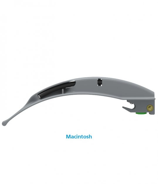 Клинки Macintosh для ларингоскопов Flexicare BriteBlade Pro™ цельнометаллические фиброоптические одноразовые размер 1 - изображение 1
