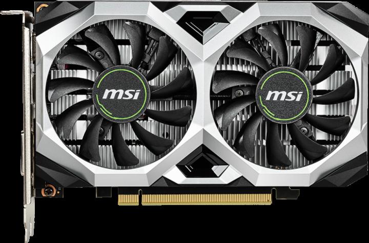 MSI PCI-Ex GeForce GTX 1650 D6 Ventus XS OC 4GB GDDR6 (128bit) (1620/12000) (DisplayPort, HDMI, DVI) (GTX 1650 D6 VENTUS XS OC) - изображение 1