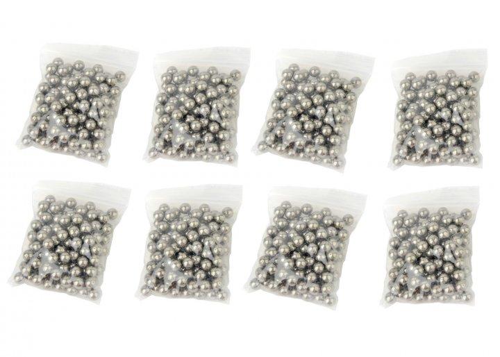 Металеві кульки для рогатки DEXT 8 мм сталь 8 упаковок (OK2215732632) - зображення 1